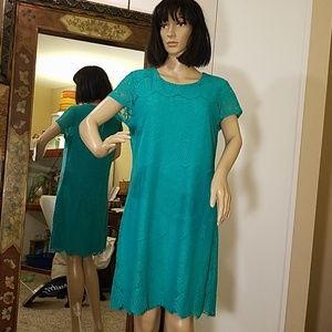 Laundry By Shelli Teal Dress EUC!!